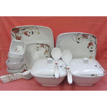 Dinner set Melamine 37 Pcs, Kitchen Dining Dinnerware, Dinner set for Dining, Gift - 3803323-52211203999