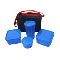 Detak Lunch Box With 4 Pcs. Food Grade Containers And Insulated Bag