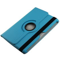 360 Degrees Rotating Stand Cover For Samsung Galaxy Note 10.1 Inch Tablet N8000 Blue