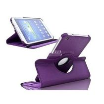 "Sleek Flip Case Book Cover 360 Degree Samsung Galaxy Tab 3 T311 8"" Tablet (Purple)"