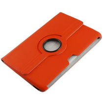 360 Degrees Rotating Stand Cover for Samsung Galaxy Note 10.1 inch Tablet N8000 orange