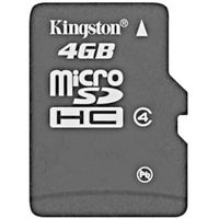 Kingston MicroSD Card Class 4, 4gb