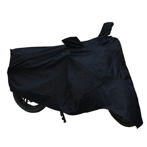 Auto Hub Black 580 Bike/Motorcycle Body Cover With Mirror Pocket For Tvs Scooty Pep+ (AH Black 580), black