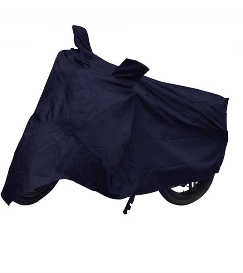 Auto Hub Blue 548 Bike/Motorcycle Body Cover With Mirror Pocket For Hero Super Splendor (AH Blue 548), blue