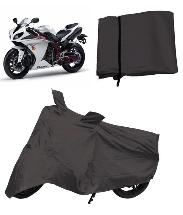 Auto Hub Grey 1018 Bike/Motorcycle Body Cover With Mirror Pocket For Bajaj Pulsar 200 Ns Dts-I (AH Grey 1018), grey