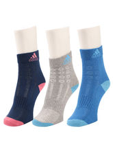 ADIDAS. WOMEN SPORT SOCKS. PACK OF 3., Assorted, ...