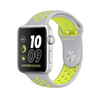 Apple Watch Nike+ Silver Aluminum Case with Flat Silver/Volt Nike Sport Band