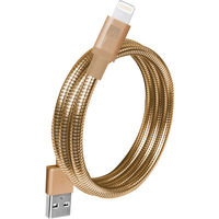 "Case Logic Lightning MFI USB Spiral Cable 3.5"" , Gold"