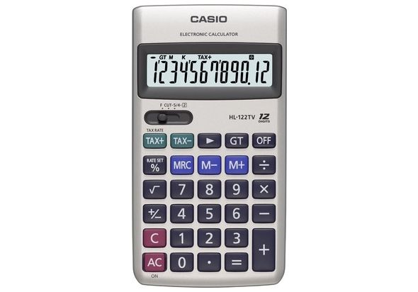 Casio HL122TV-R Portable Type Calculator