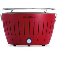 LotusGrill Smokeless Charcoal Grill,  red