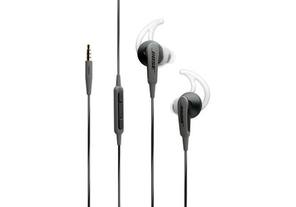 Bose SoundSport In-Ear Headphones-Apple Devices, Charcoal Black