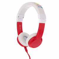 Onanoff BuddyPhones Explore Foldable Headphones, Red