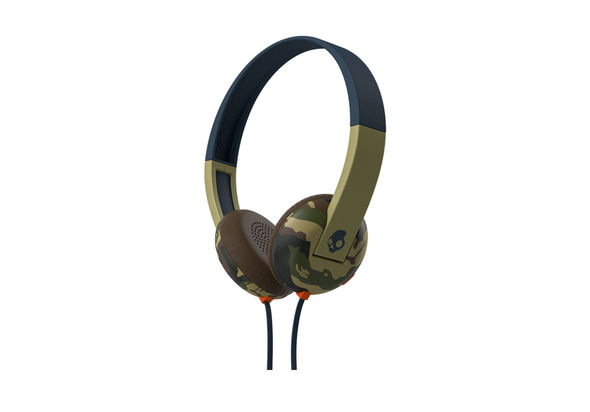 Skullcandy Uproar On-Ear Headphone with Tap Techslate, Camo-Navy