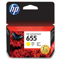 خرطوشة HP 655‏ أصلية صفراء Ink Advantage‏