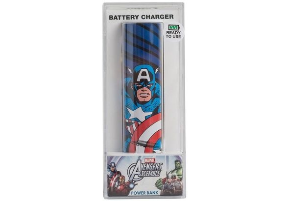 Tribe Power Bank 2600mAh, Captain America