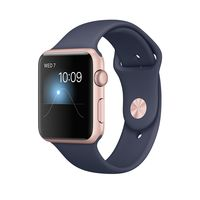 Apple Watch Series 1 Rose Gold Aluminium Case with Midnight Blue Sport Band