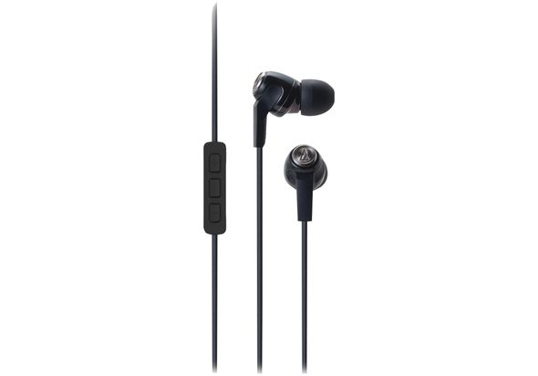 Audio Technica ATH-CK323IBK Mobile Phone Headphones with Microphone