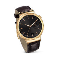 HUAWEI Smart Watch W1– Gold Case Brown Leather Band