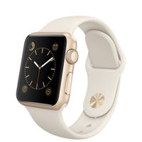Apple Watch Sport, 38mm Gold Aluminum Case with Antique White Sport Band