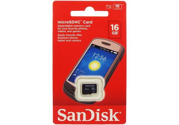 SanDisk Micro SD Card, 16GB
