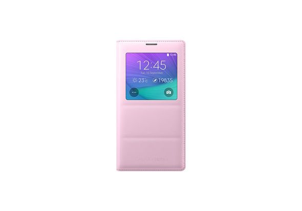 S View Cover For Galaxy Note 4 Pink