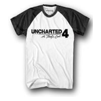 Uncharted 4 JR Logo Raglan T-shirt Men with Sleeves_ White (S)