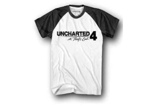 Uncharted 4 JR Logo Raglan T-shirt Men with Sleeves_ White (Xl)