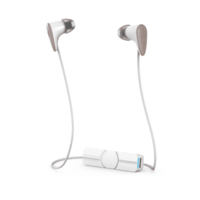 iFrogz Zagg Audio Charisma Wireless Bluetooth Earbuds, White/Rose Gold