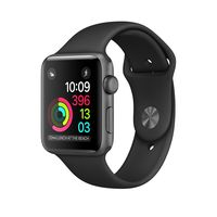 Apple Watch Series 1 Space Gray Aluminum Case with Black Sport Band