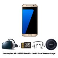 Exclusive Bundle for Samsung Galaxy S7 Edge Smartphone, 32 GB, Gold Platinum