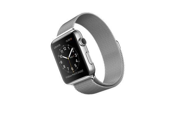 Apple Watch Sport, 42mm Stainless Steel Case with Milanese Loop
