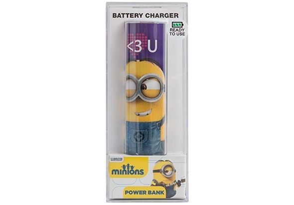 Tribe Power Bank 2600mAh, Minions Heart