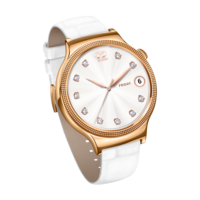 HUAWEI Smart Watch (Ladies) W1– Rose Gold Case White Leather Band