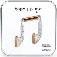 Happy Plugs Deluxe EDT Earbud, White Marble Rose