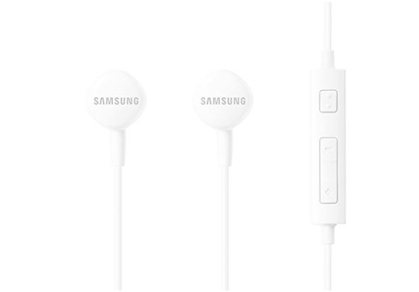 Samsung HS-1303 In-Ear Headphones with Built-In Remote Control and In-Line Microphone, White