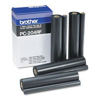 Brother 4 x Black PC-204RF Fax Thermal Ribbons Multipack