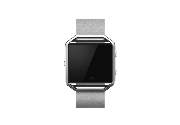 Fitbit Blaze Accessories Leather Band+ Frame Small, Mist Grey