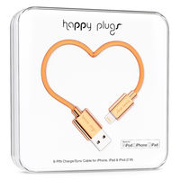 Happy Plugs lightning charge/sync cable, Rose Gold