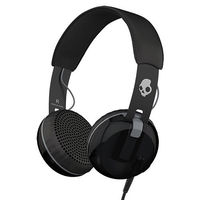 Skullcandy Grind Headphones with Single-Button TapTech and Mic, Black