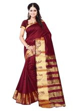 Holyday Beautiful Women'S Poly Cotton Saree (HOLYDAY0419), red