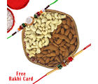Gifts World Hexagon Dry Fruits Basket With Rakhi