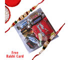 Gifts World Chocolate Box With Rakhi