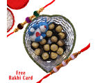 Gifts World Rakhi With Ferrero rocher and teddy