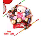 Gifts World Rakhi With Chocolate Basket
