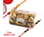 Gifts World Rakhi With Rocher