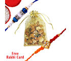 Gifts World Rakhi With Mix Dry Fruit Pouch