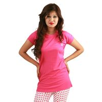Posh 7 Pink Lycra Short Nightsuit Sets