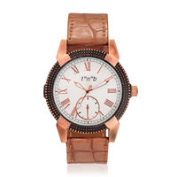 FNB black Dial choronograph Pattern Analouge Watch For Man Fnb-0119, white, genuine leather