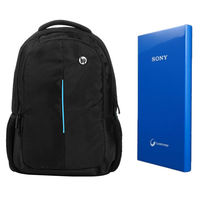 Buy Sony 10400mAh Powerbank with HP/Dell Laptop Bag In Just Rs. 999