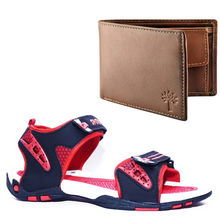 Buy Finley Floater with Woodland Wallet in just Rs. 70, red, 6